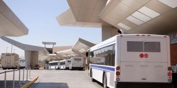 Transfer bus at airport