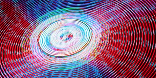 Hypnotherapy  image of light and circular motion