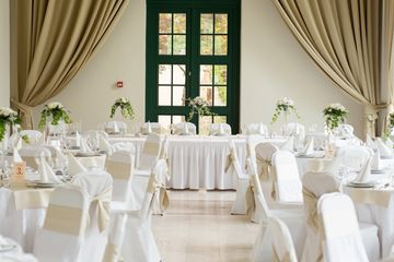 wedding venue waiting to begin stream