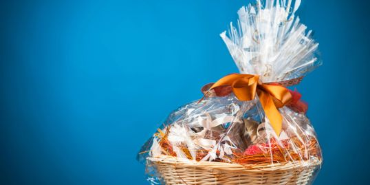 A gift basket is always a welcome sight