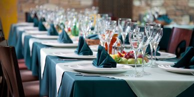 Cheat A Little Catering glass rentals, party rentals, tablescape rentals, event rentals