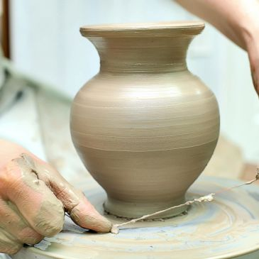 Pottery on the wheel!