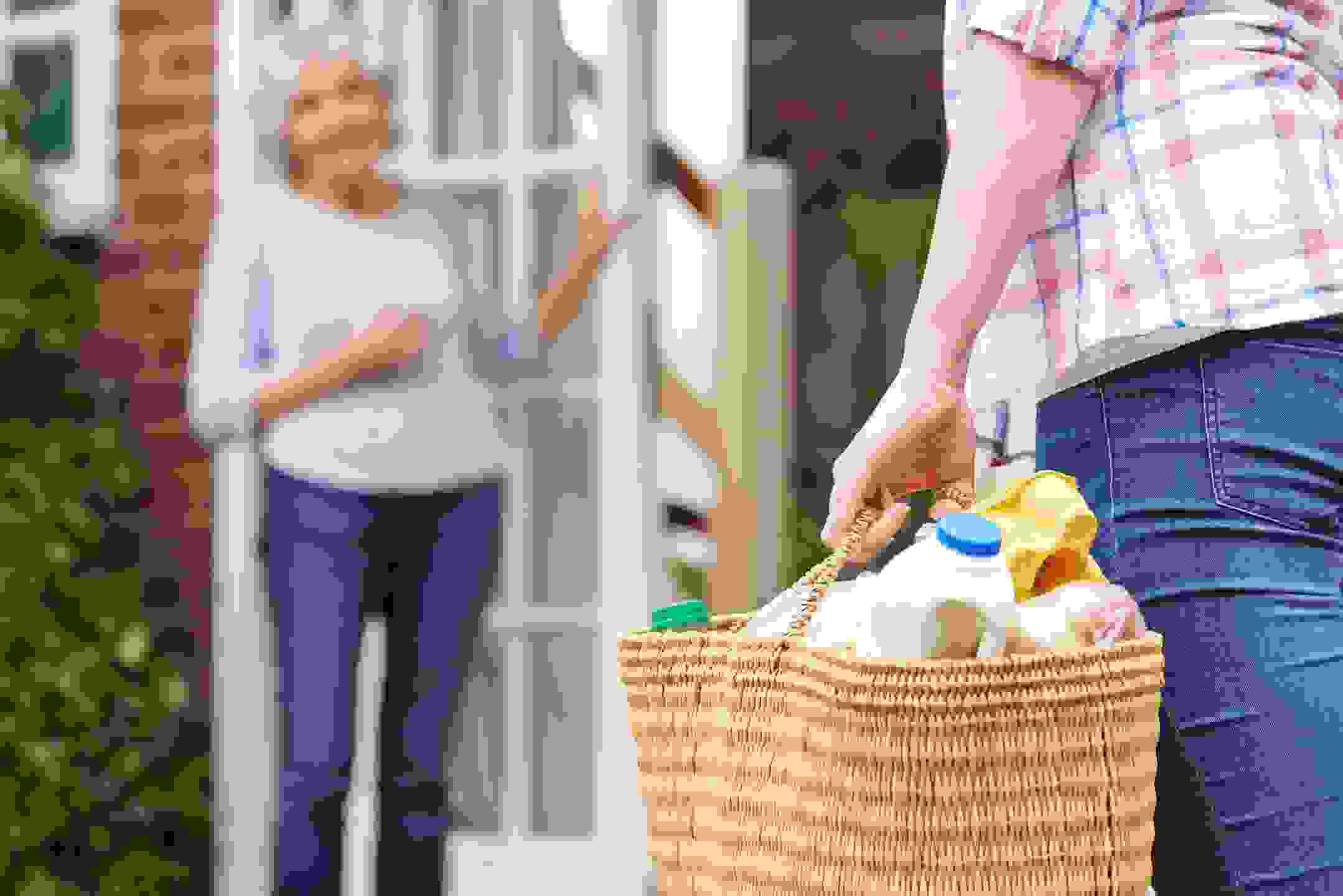 Image of person delivering groceries.