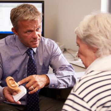 Audiologist with a Tinnitus Management patient