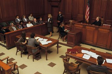 Courtroom litigation