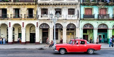 Let's take a ride through the old streets of Havana in vintage classic cars style.