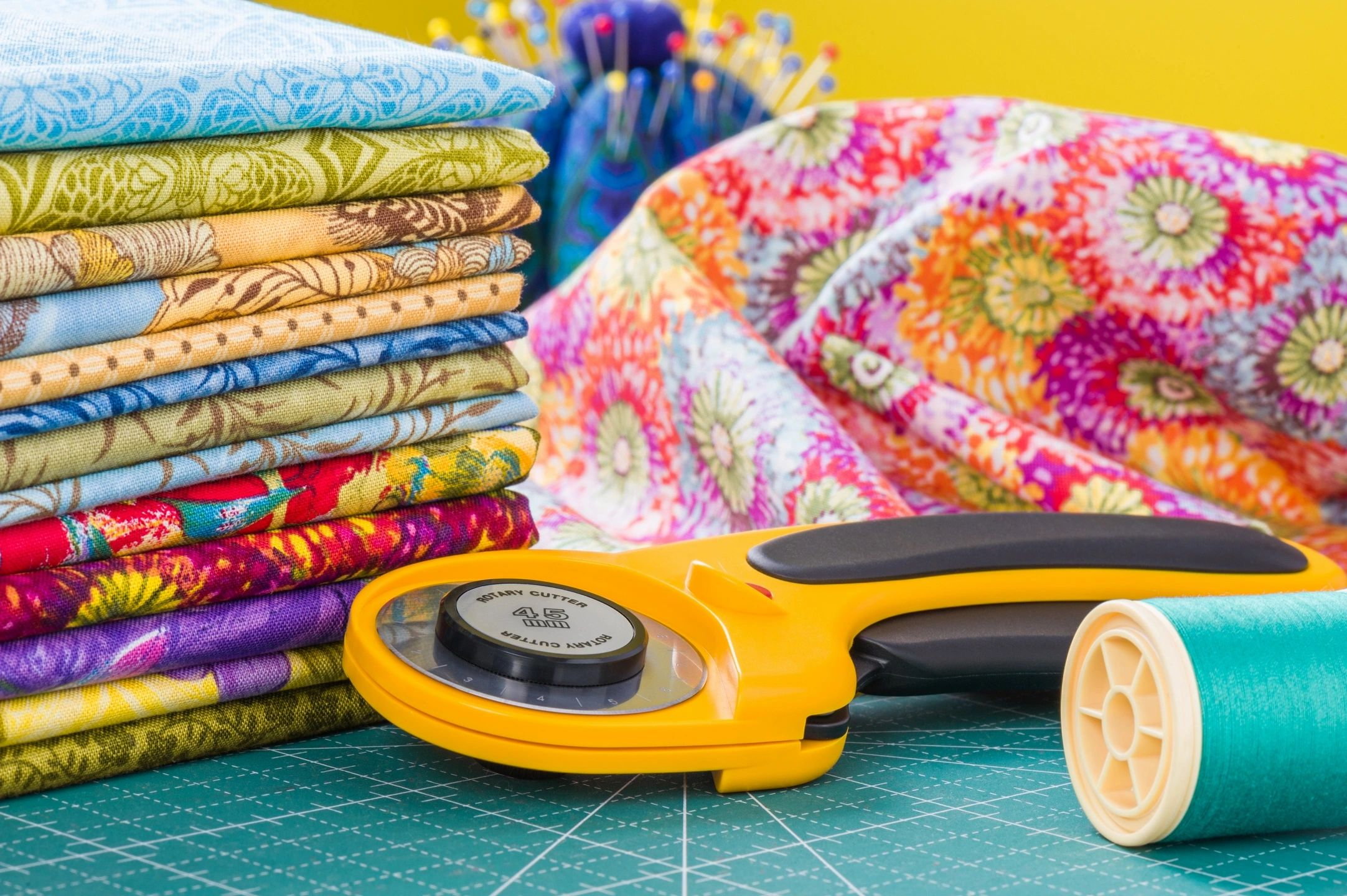 Quilting tools and fabric