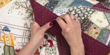 woman quilting