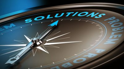 compass pointing towards solutions