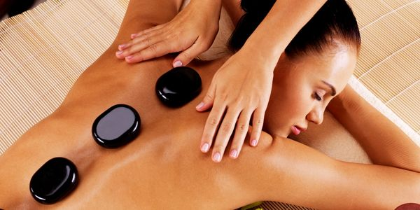 hot stones, massage, back pain, best massage, relax, neck pain, myofascial release, stretches, move