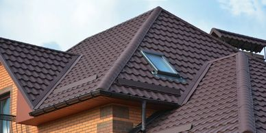 Picture of a roof with new roof tile installed
