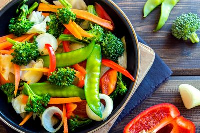 eating organic salads and stir-fried dishes provides quality fiber to feed your beneficial bacteria.