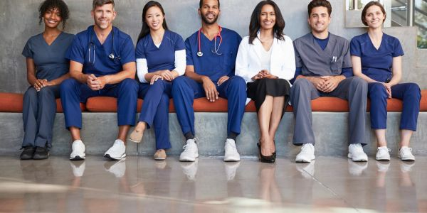 Certified caregiver and health care staff