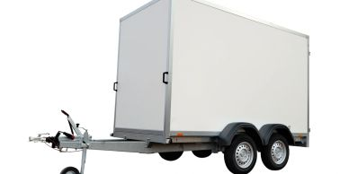 Box trailer that can be serviced