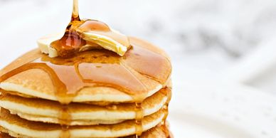Pancakes by the beach at Anna Maria Island Beach Cafe -- the perfect way to start your fun in the su