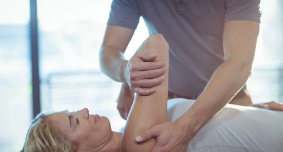 Mobilization of shoulder joint for pain relief and to reduce inflammation