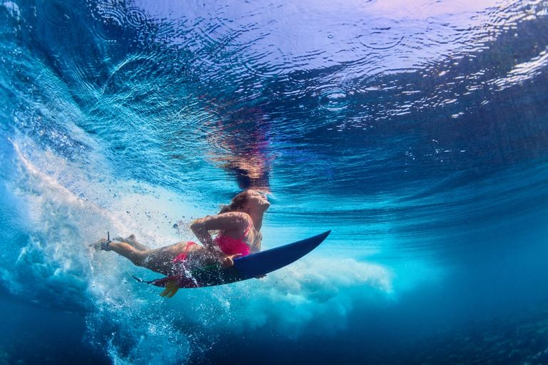 Fishing Diving Surfing Beautiful ocean and waves