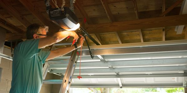 Garage door opener repair service.