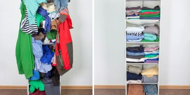 purging decluttering organizing