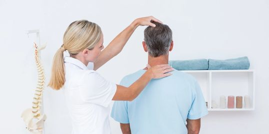 Chattanooga Chiropractor treating neck pain.