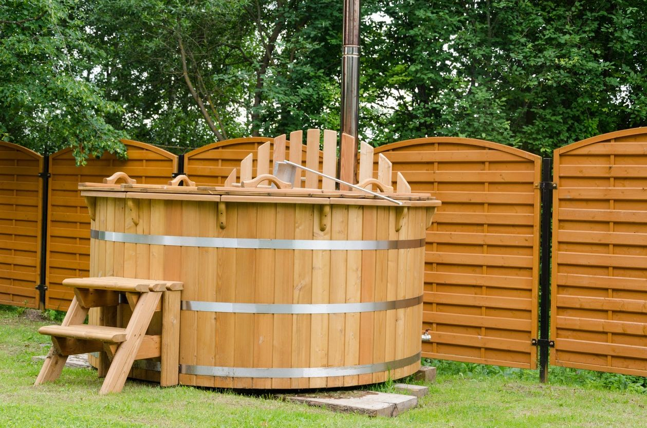 Outdoor barrell sauna