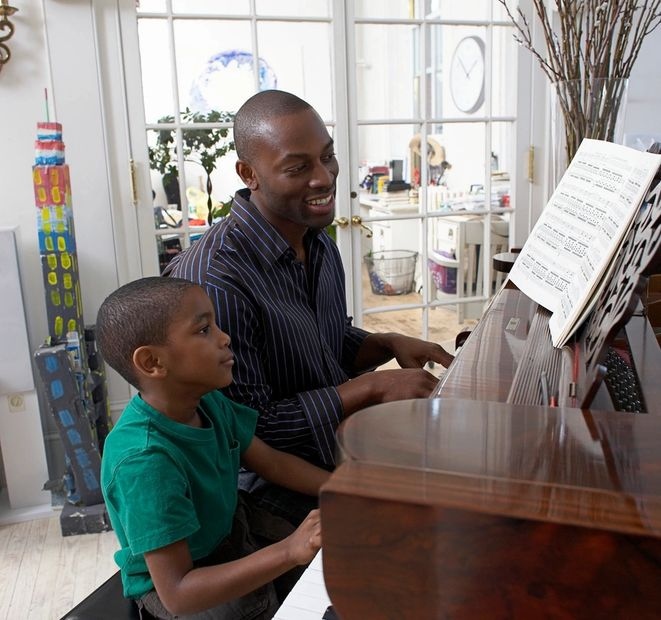 In home music lessons for children.