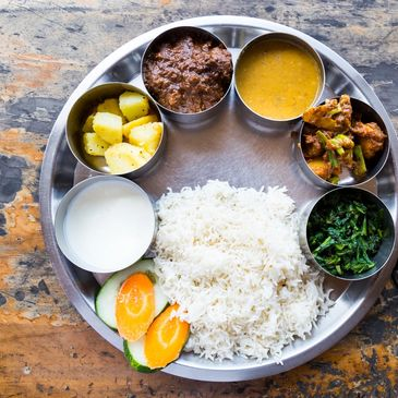 A Traditional Nepalese Set Meal