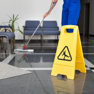 Sweeping and mopping floors for commercial properties