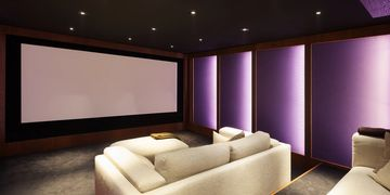 Digital Creations Custom Home Theaters does home theater installation, with speakers, and projectors