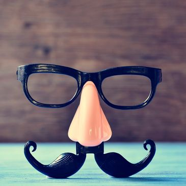 happy face mask with mustache funny and fun eyeglasses frames