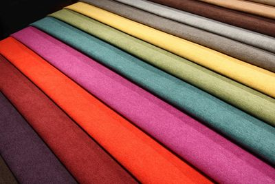 Fabric dyed in 10 colors