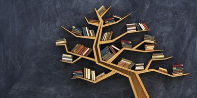 Bookcase designed as a tree