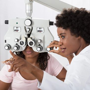 full comprehensive eye exams refraction and prescriptions filled.
