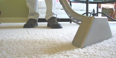 cleaning a carpet in Oxted