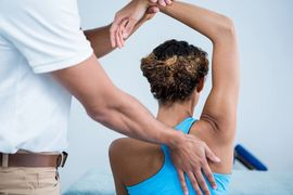 Sport massage with focus on a particular troublesome area like a knee or shoulder.