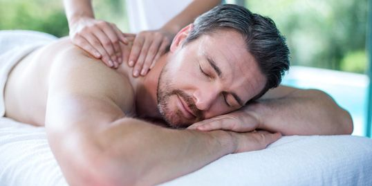 male massage client