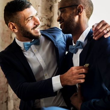 LGBTQIA wedding couple