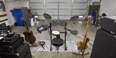 Banded Moon, Kansas City, provides consulting regarding acoustics for project studios like this.