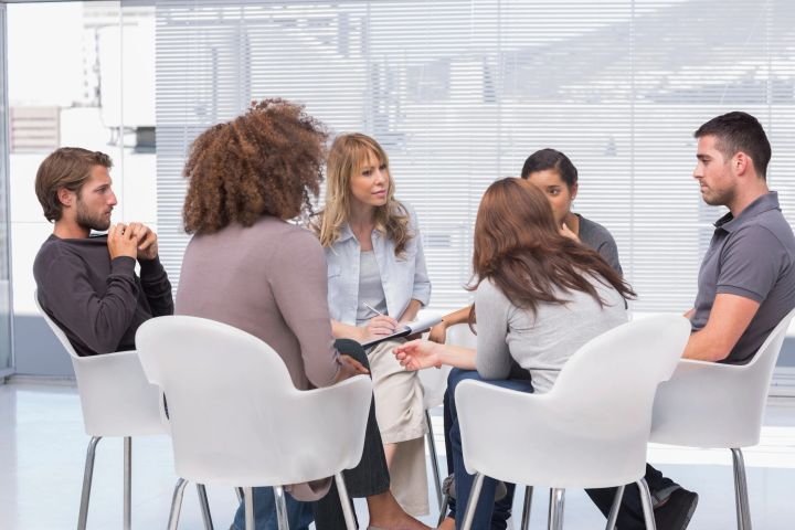 group counseling Group therapy is a form of treatment that involves 6-8 individuals meeting face-to-face with trained group therapist(s) members take responsibility for talking about their situations and what is troubling them members also give each other feedback by expressing their own feelings about what is going on in the group.