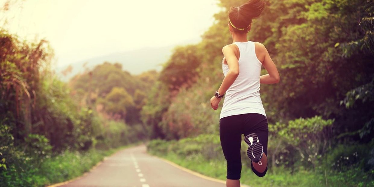 Healthy woman running