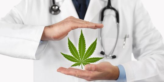 doctor with medical weed