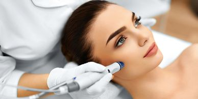 Microneedling. Facial rejuvination. renew
