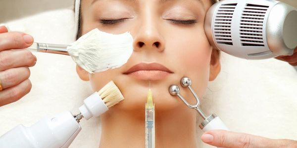 Med Spa patient receiving laser, VI Peel, Chemical Peel, B12 injection