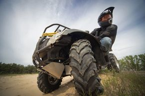 ATV rider on a quad
