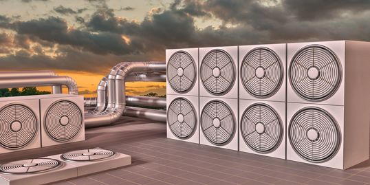 Industrial HVAC for a large commercial building