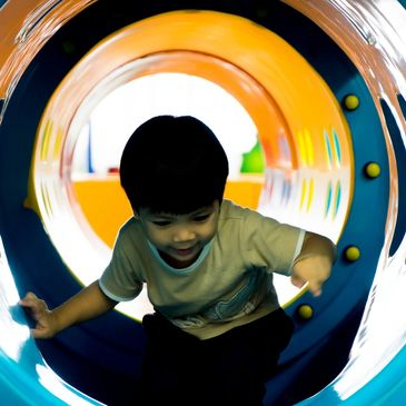 Fun slides and tunnels.