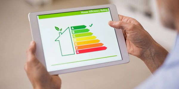 Tablet with window energy rating display