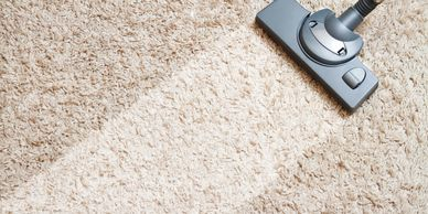 carpet cleaning on white carpet
