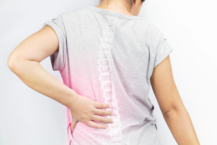 painful spine, scoliosis, backache