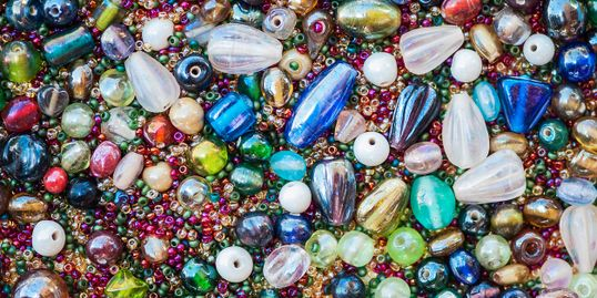 Stock image of beads